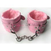 Наручники розового цвета с меховой подкладкой